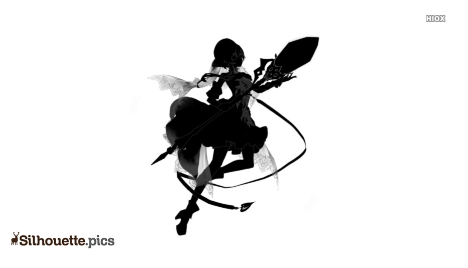 Cute Fairy With Magic Wand Silhouette