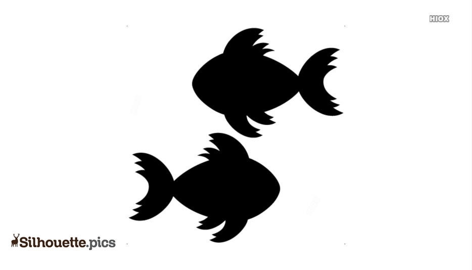 Cute Fish Silhouette Clip Art, Vector Art