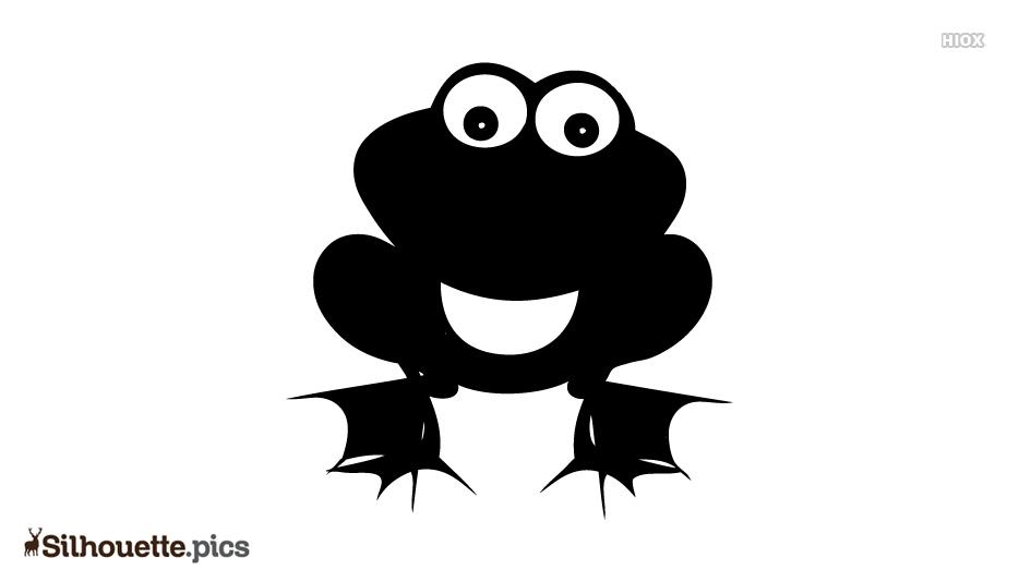 Cute Frog Art Silhouette