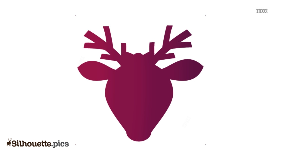 Cute Girl Reindeer Silhouette Image And Vector