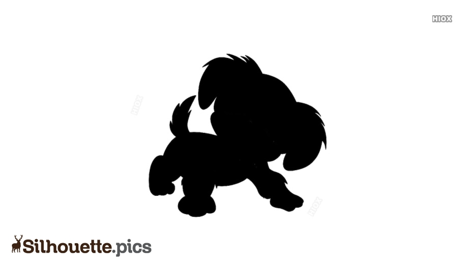 Cute Little Puppy Silhouette