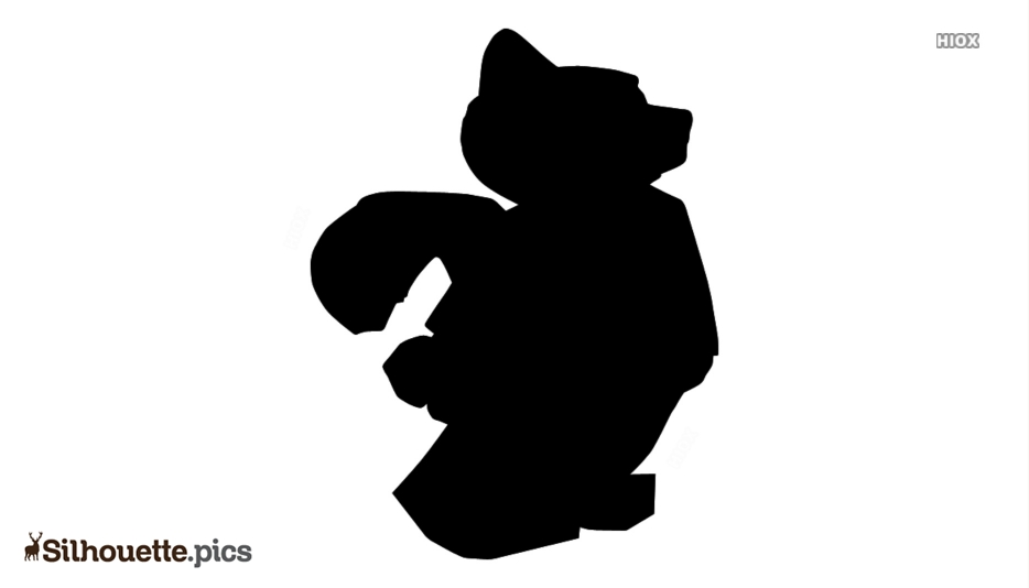Cute Rocket Raccoon Silhouette