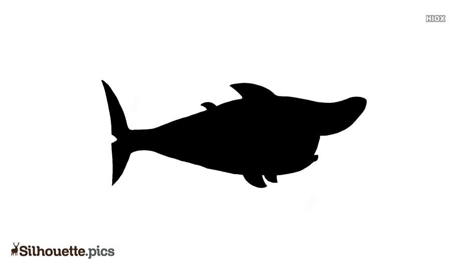Cute Shark Cartoon Silhouette