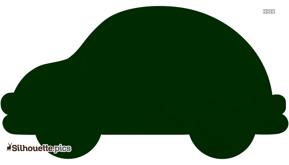 Cute Toy Truck Silhouette Background
