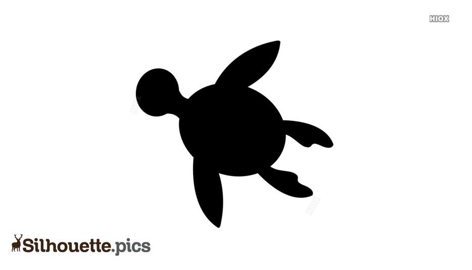 Cute Turtle Cartoon Silhouette