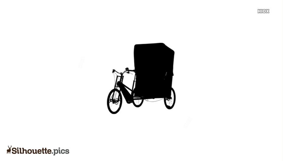 Cycle Rickshaw Silhouette Image