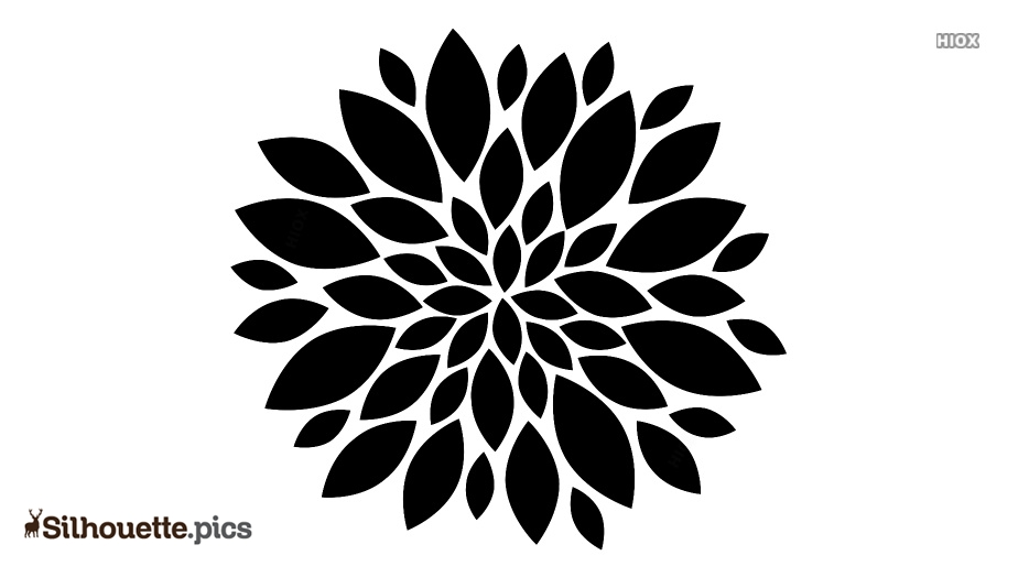 Dahlia Clipart Silhouette Clip Art