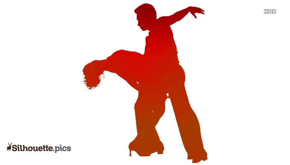 couple dance silhouette vector