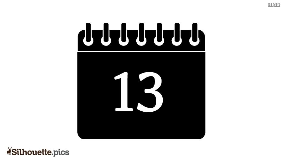 Date Calendar Silhouette