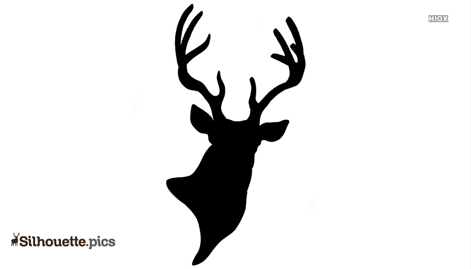 Antlers Clipart Christmas - Blue Deer Head Silhouette, Cliparts & Cartoons  - Jing.fm