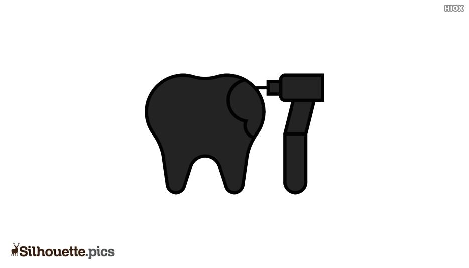 Dental Care Silhouette Icon Vector Image