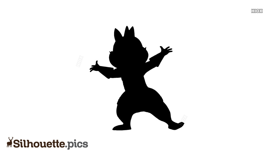 Disney Cartoon Character Silhouette