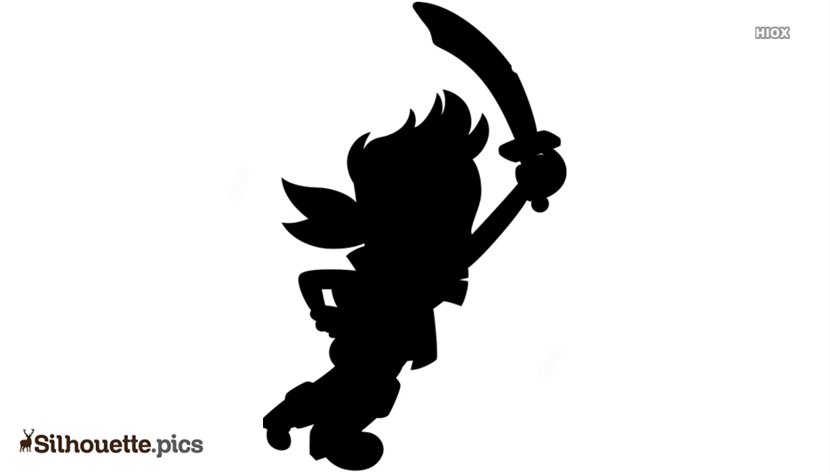 Disney Jake Silhouette Art