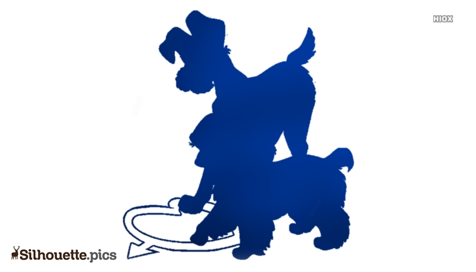 Disney Lady And The Tramp Clip Art Silhouette