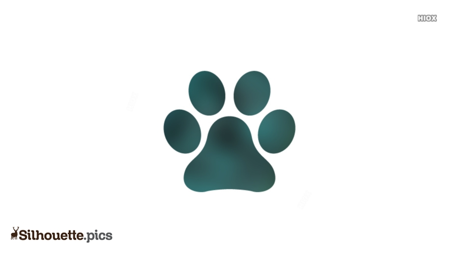 Dog Paw Silhouette Images