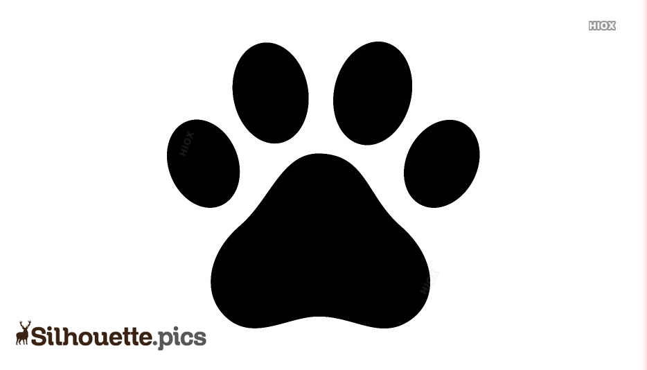 Dog Footprint Silhouette Download