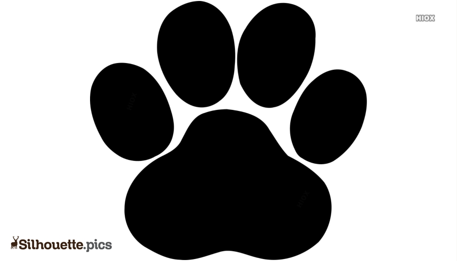 Dog Paw Silhouette Art Image