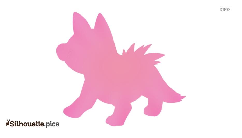 Dog Pokemon Silhouette Illustration
