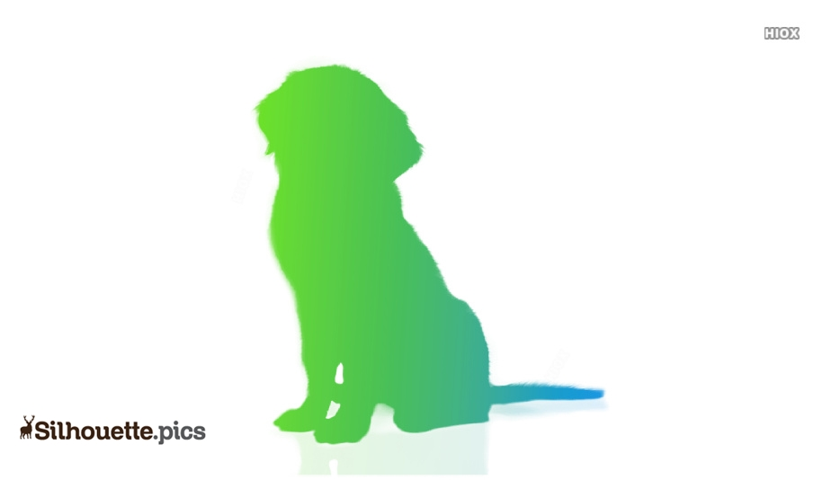 Dog Sitting Silhouette Clip Art