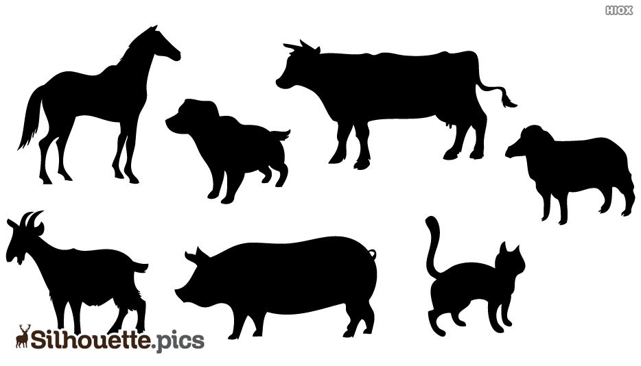 Domestic Animals Silhouette Images