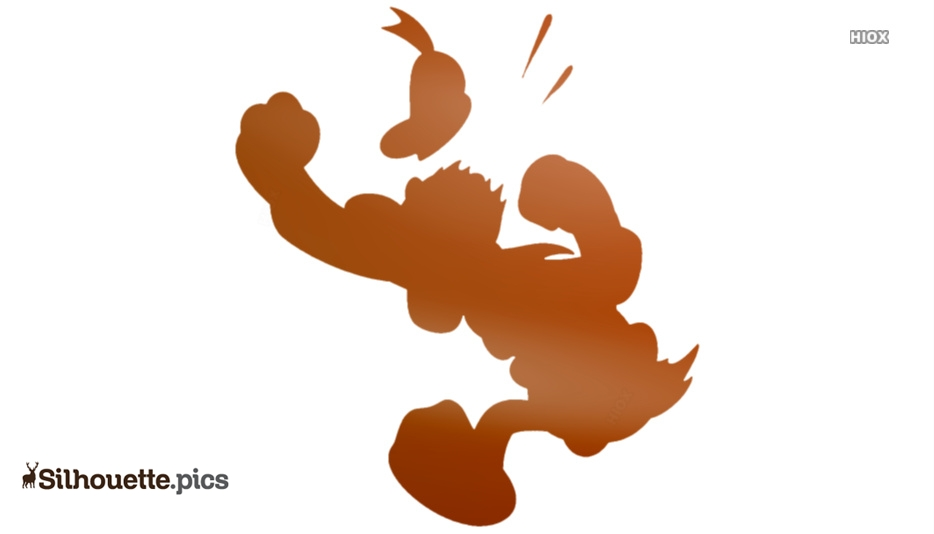 Donald Duck Angry Silhouette