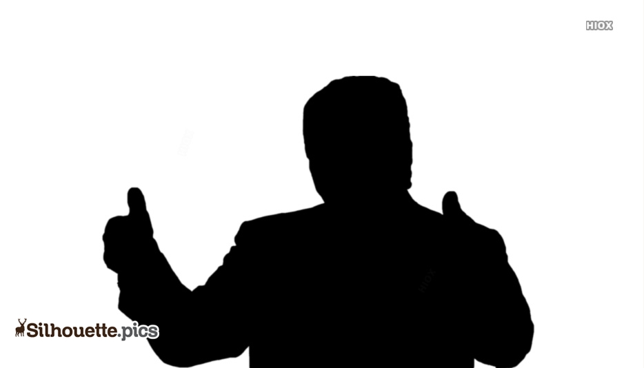 Donald Trump Thumbs UP Silhouette