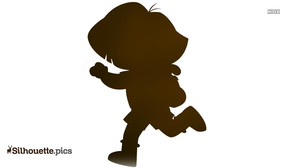 Dora Running Silhouette Clip Art, Dora The Explorer Symbol