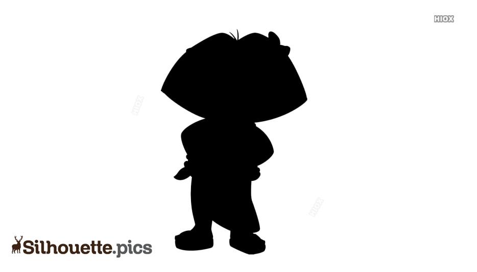 Dora Silhouette Vector Image