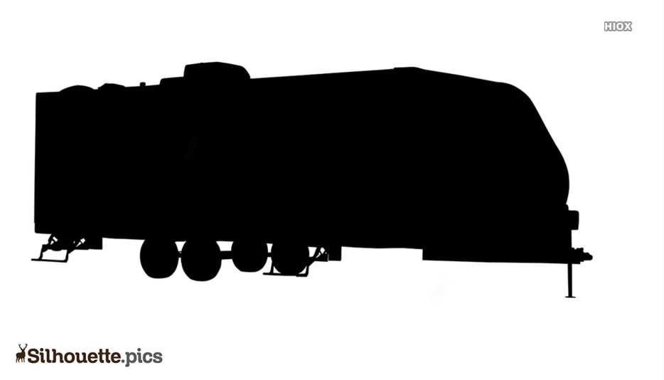 Double Camper Silhouette Drawing