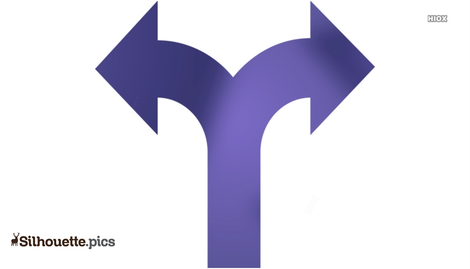 Double Arrow Silhouette Images