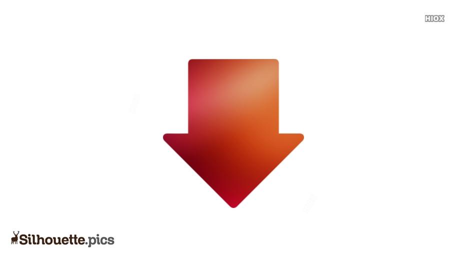 Down Arrow Clipart Symbol Silhouette