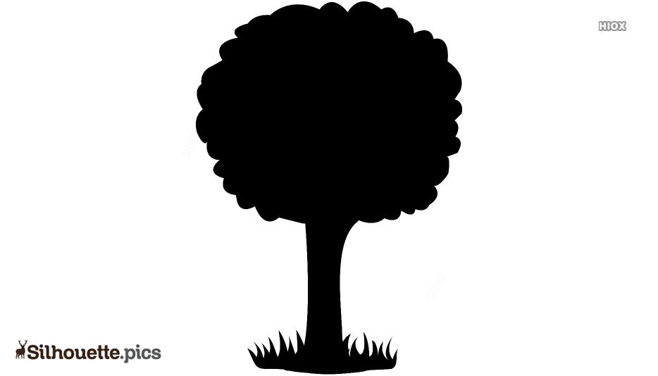 Drawn Tree Cartoon Silhouette