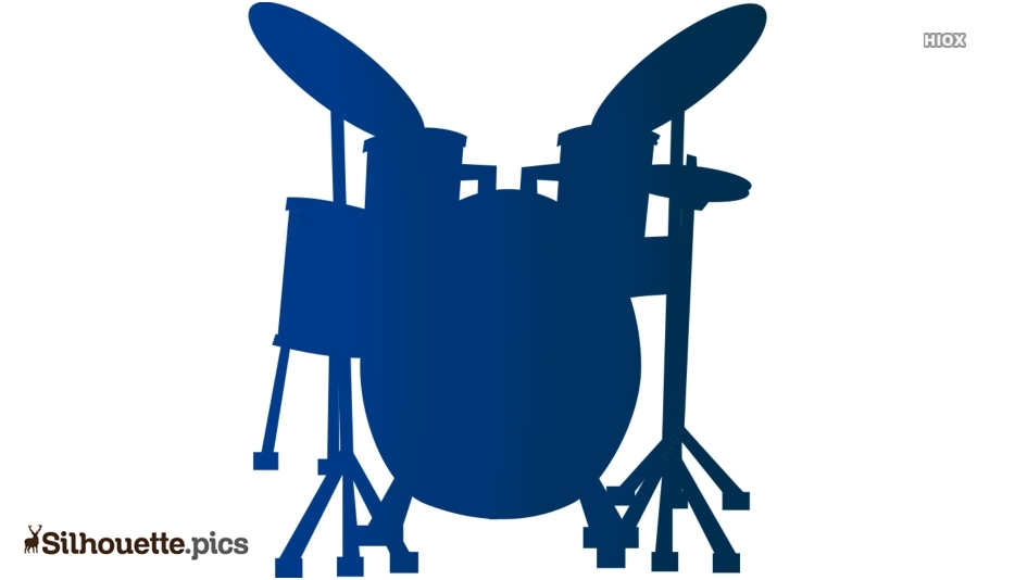 Drums Set Silhouette Images