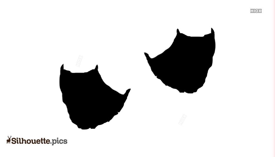 Duck Foot Print Silhouette