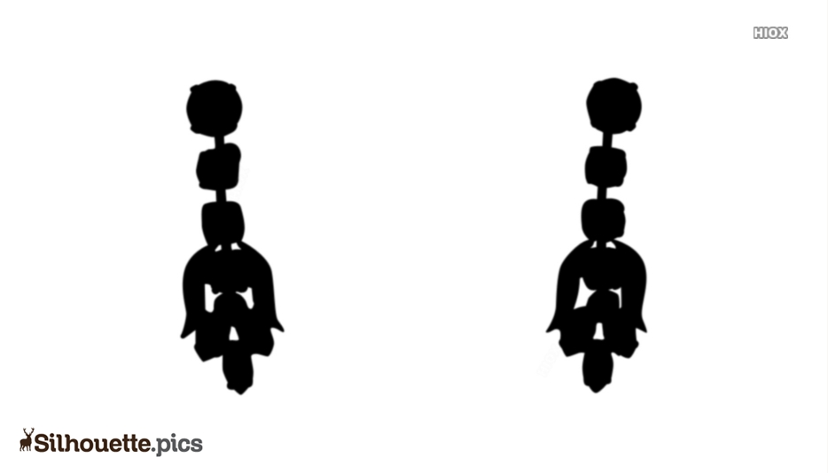 Earrings For Girls Silhouette Drawing