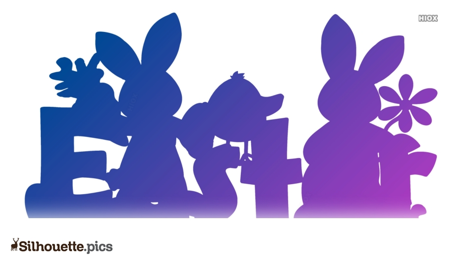Easter Bunny Cartoon Silhouette Image Art