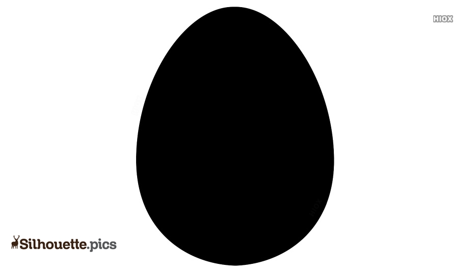 Egg Shape Silhouette Vector And Image
