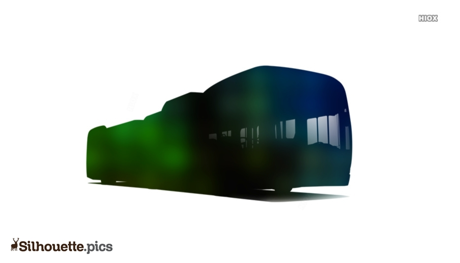 Electric Minibus Silhouette Drawing