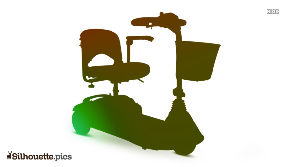 Electric Scooter Silhouette Picture Clipart