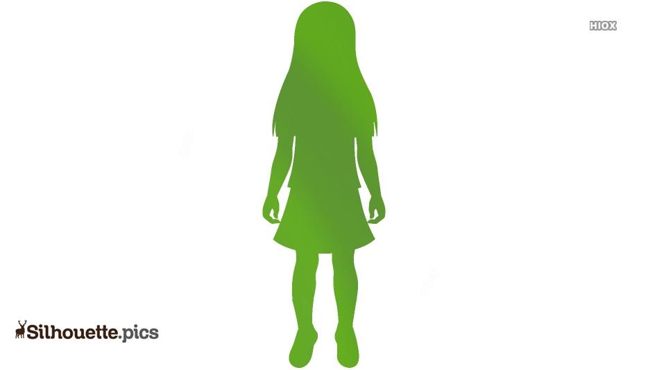 Elementary School Girl In Uniform Silhouette