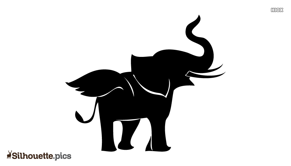 Elephant With Wings Silhouette