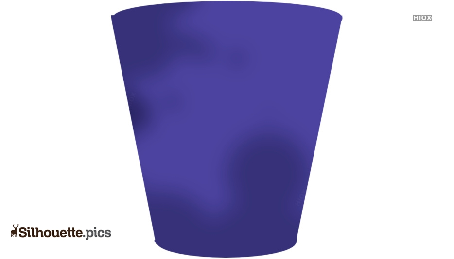 Empty Trash Can Silhouette