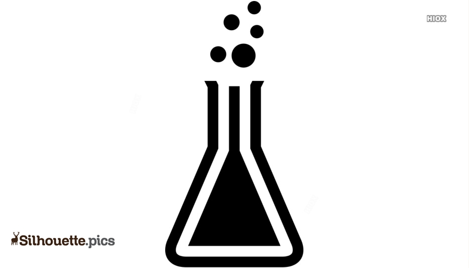 Chemistry Flask Silhouette Images