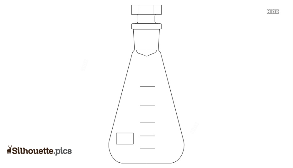 Erlenmeyer Flask Silhouette, Vector Art