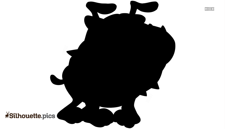 Evil Dog Cartoon Silhouette Clipart