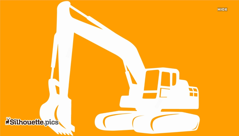 Excavator Silhouette Icon Free Download