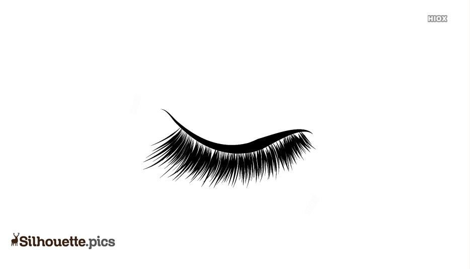 Eyelash Beautiful Clipart Silhouette