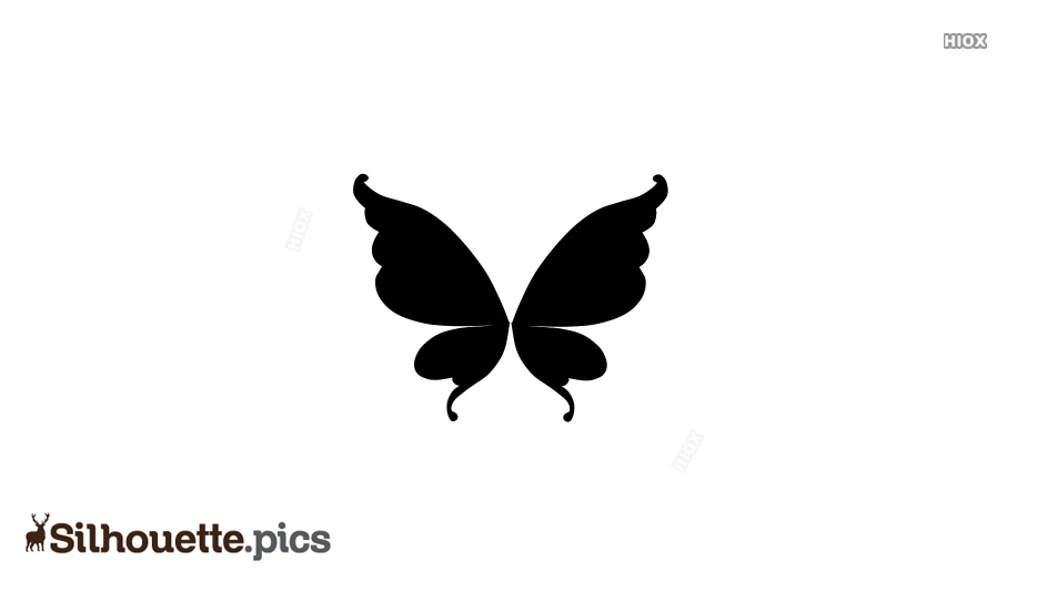 Fairy Butterfly Wings Silhouette Image