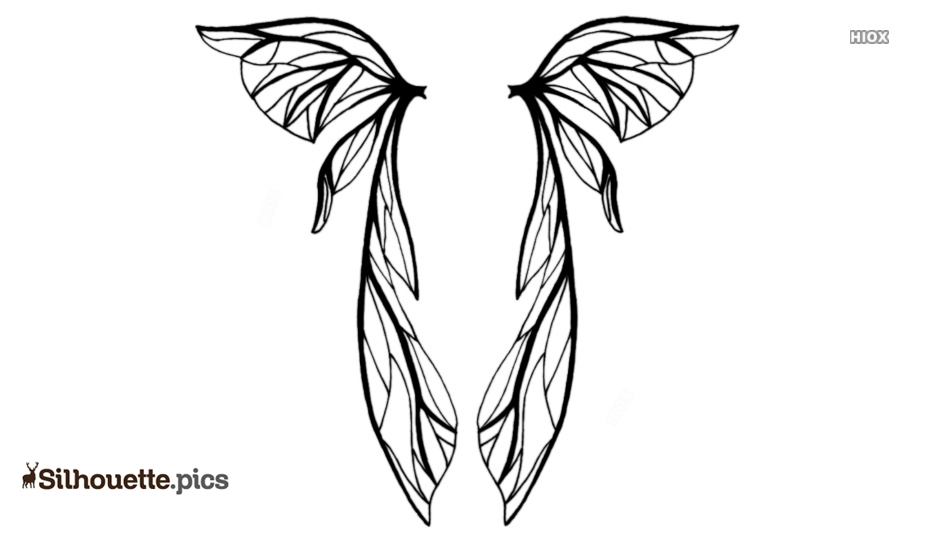 Wings Silhouette Vector Images, Stock Photos