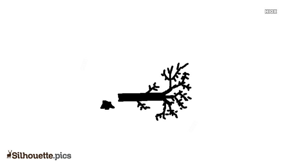 Fallen Cartoon Tree Silhouette